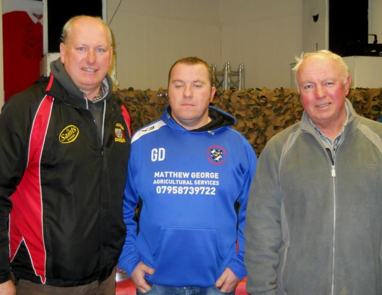 Fintan Godkin, Gerwyn Davies and Andy Dixon (St Davids Treasurer)