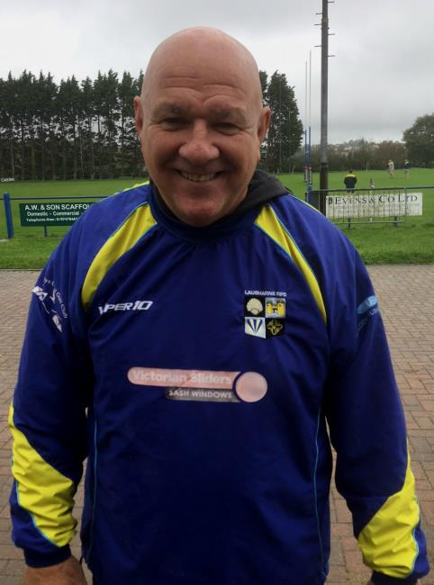 Laugharne coach Gary Price