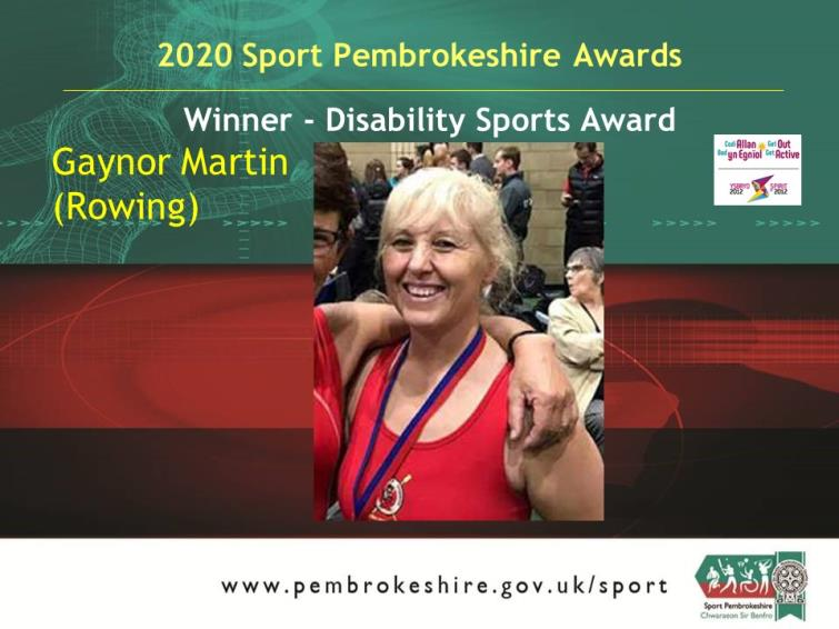 Gaynor Martin disability sports winner