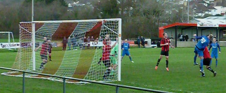 Goalmouth action from Phoenix Park