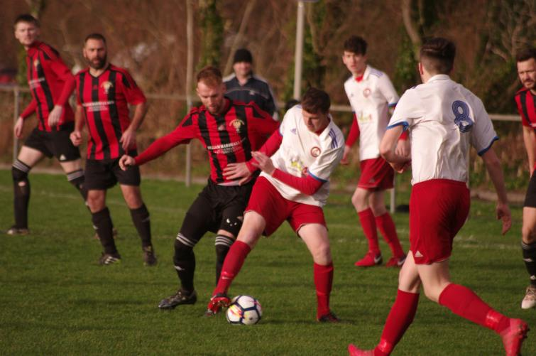 Action from Phoenix Park where Goodwick beat Milford United