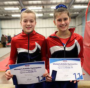 Gymnasts pass artistic gymnastics grades with flying colours!