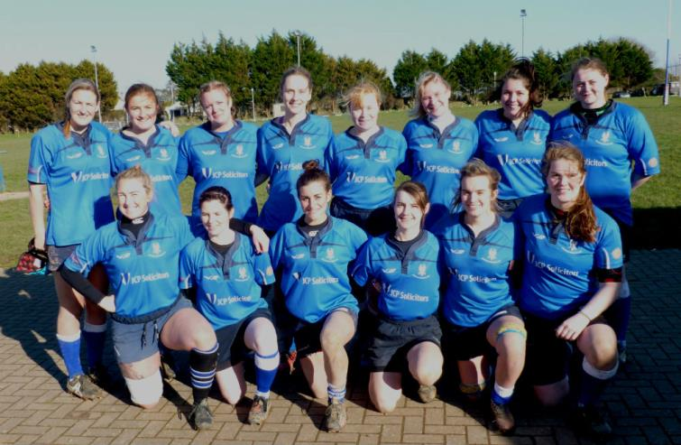The winning Haverfordwest Ladies team