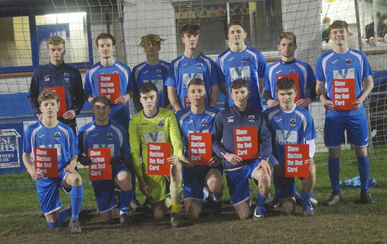 Haverfordwest County U19s showing Racism The Red Card