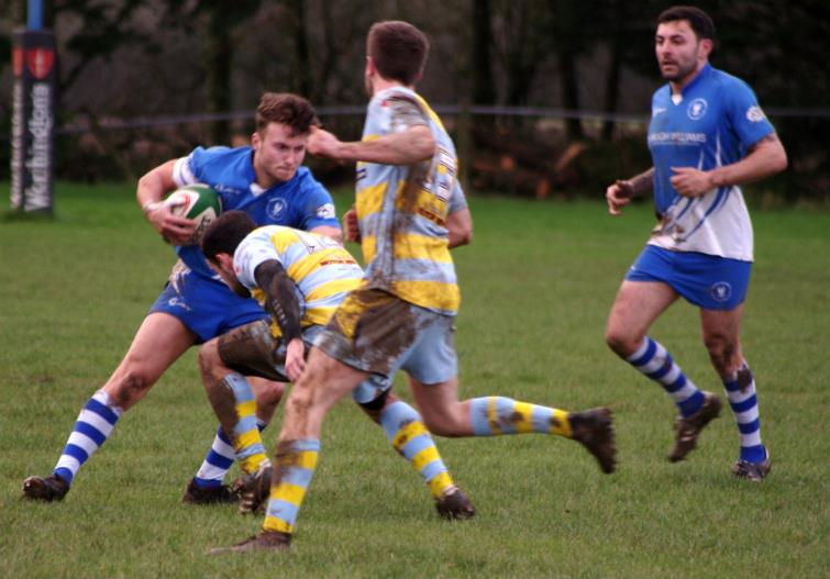 Josh Artherton breaks for Haverfordwest