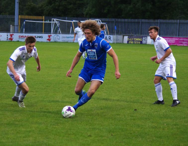 Greg Walters worked hard for Haverfordwest County in midfield