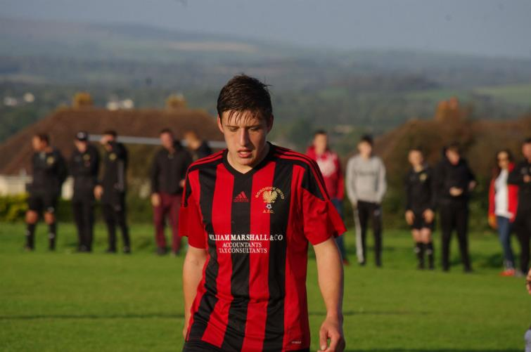 ​Jordan Griffiths scored twice for Goodwick United