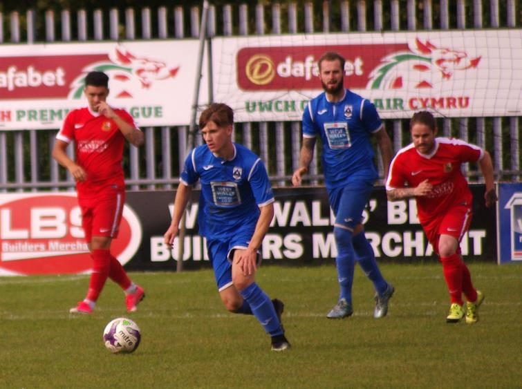 Midfielder Dan Williams played well for The Bluebirds