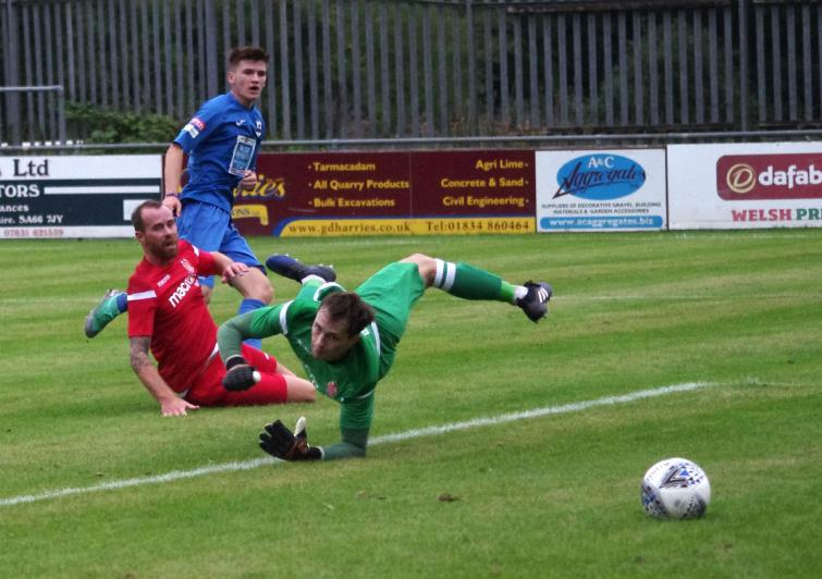 Danny Williams opens the scoring for Haverfordwest County