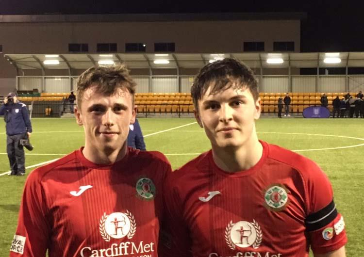 Proud night for Haverfordwest County players Jack Wilson and Alaric Jones who both featured  for Welsh Schools U18s in their Centenary Shield win against England U18s