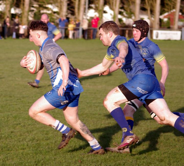 Winger Jack Evans grabbed two tries
