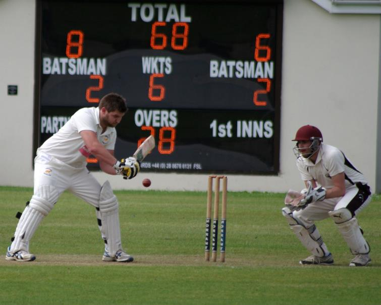 Joe Kidney in batting action for Lawrenny at Neyland