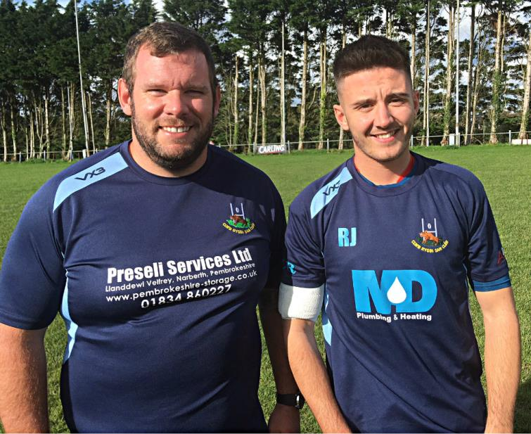 Jonathan Ealy and Rhodri Jones - St Clears player coaches