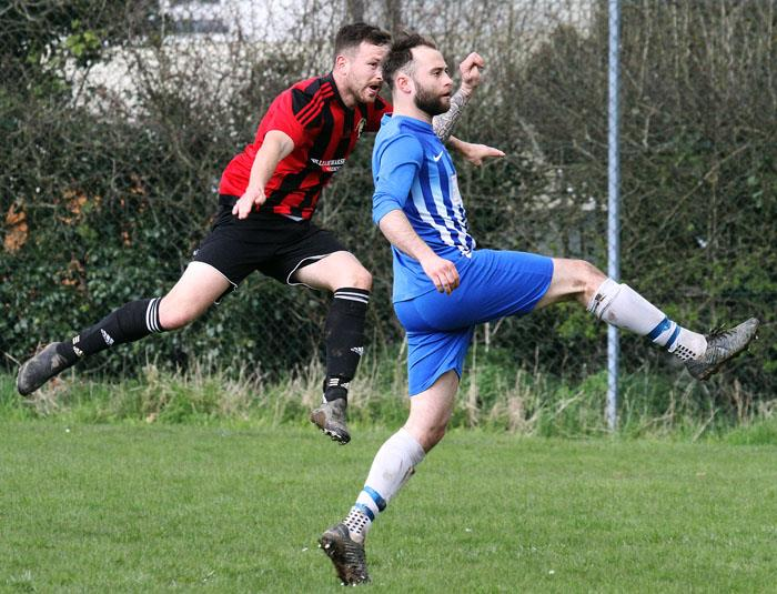 Jonny Horgan struck a hat-trick for title seeking Goodwick United at Narberth