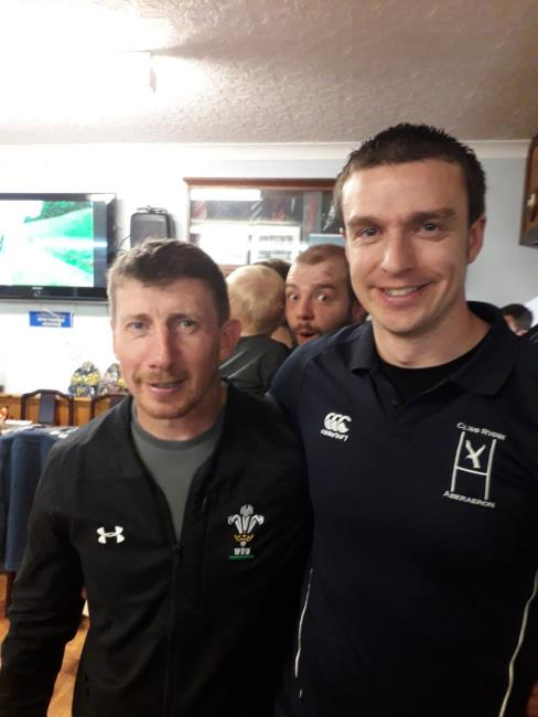 Try scorers Justin Lloyd and Richard Francis
