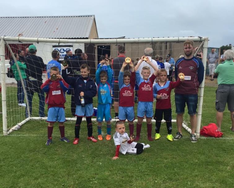 Kai Sheehan with his winning Prendegast Villa team mates