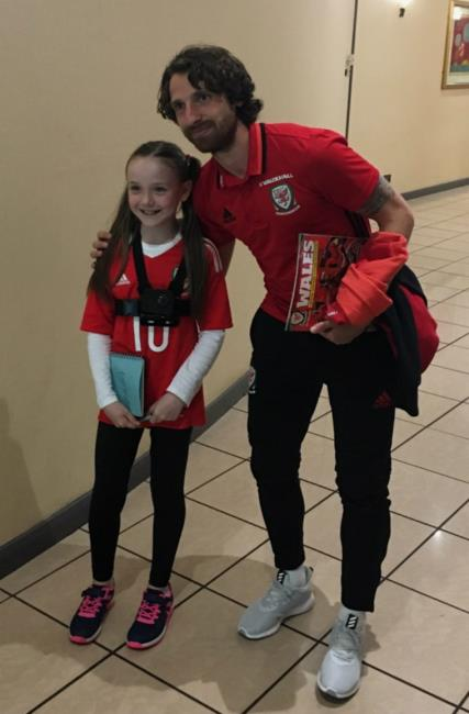 Kayleigh with Joe Allen