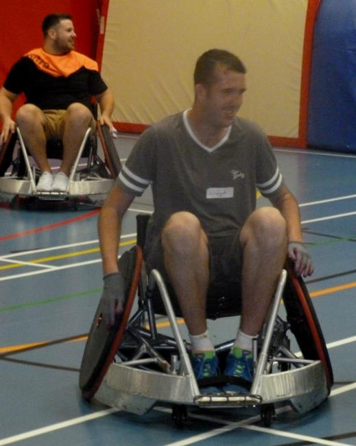 Lloyd trying out wheelchair rugby
