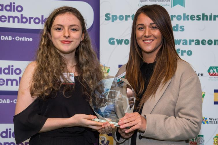 Lowri Hart is honoured at Sport Pembrokeshire Awards