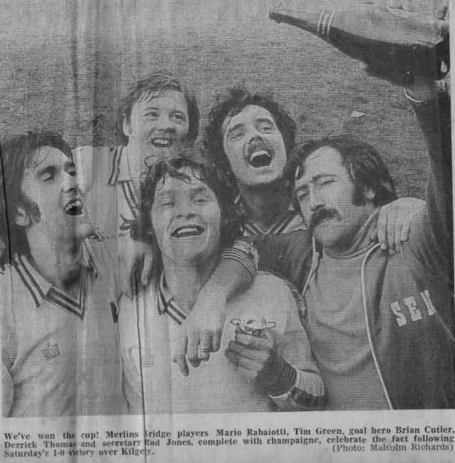 Merlins Bridge Cup Final 1979