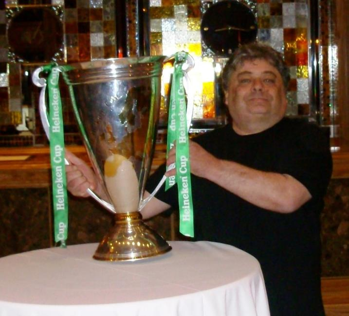Mike Ridley with Heineken Cup