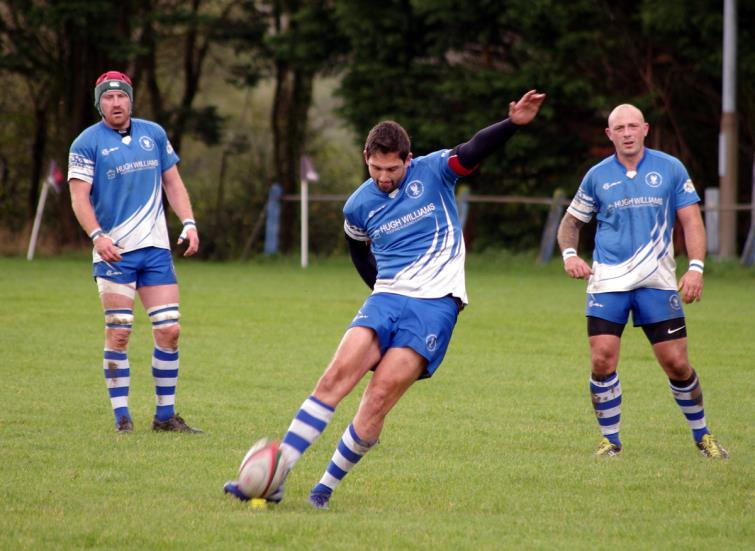 Mikey Jones kicked well for Haverfordwest