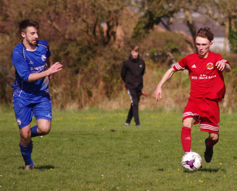 Morgan Thomas scored a brace for West Dragons who thrashed Narberth
