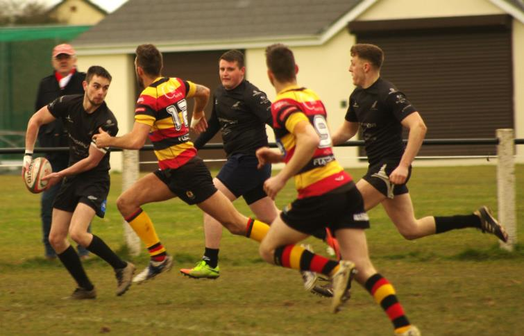 Action from Neylands win over Cardigan