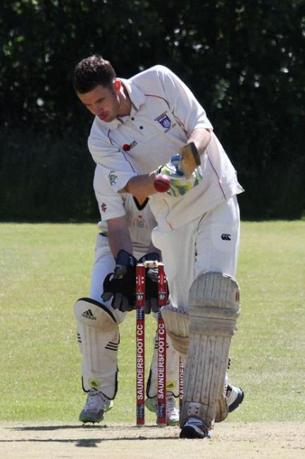 Nick Cope hit a century for  Saundersfoot