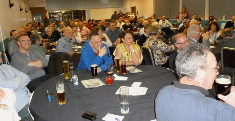 The audience enjoying themselves at the Neyland Athletic Club