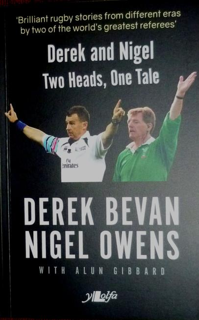 Nigel Owens latest book, in which he shared memories with Derek Bevan