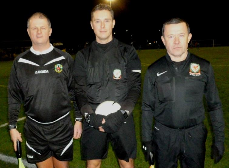 Match officials: Teifion Cook (Referee), Garwyn Davies & Dale Parker