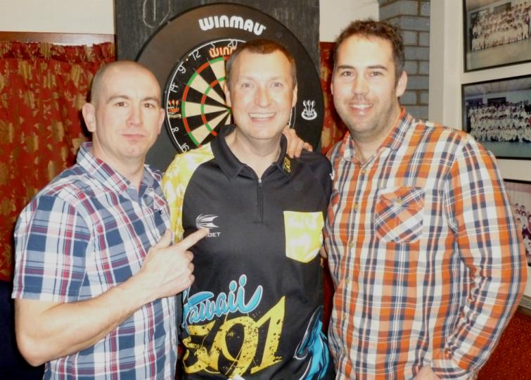 Wayne with organisers Lee Chenery and Craig Jones