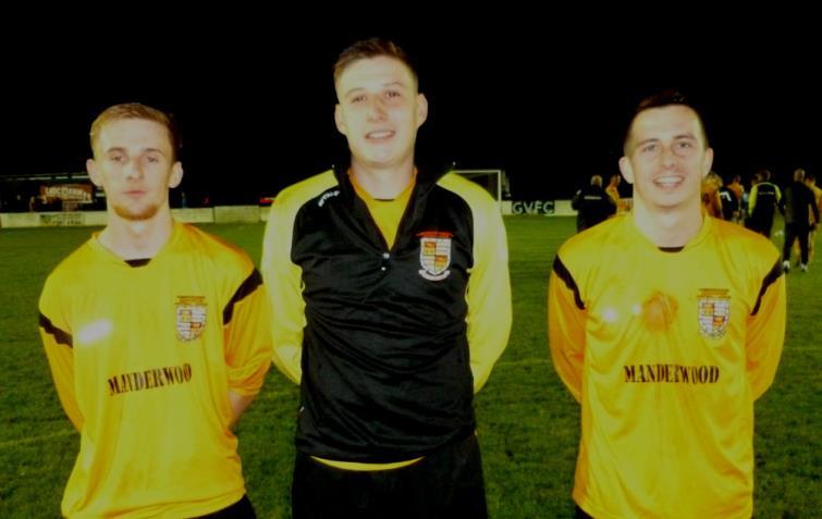 Goal scorers Adam John, Jordan Griffiths and Justin Harding