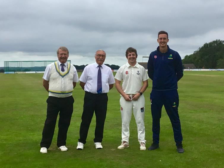 Umpires with Matthew Davies and Jack Murphy