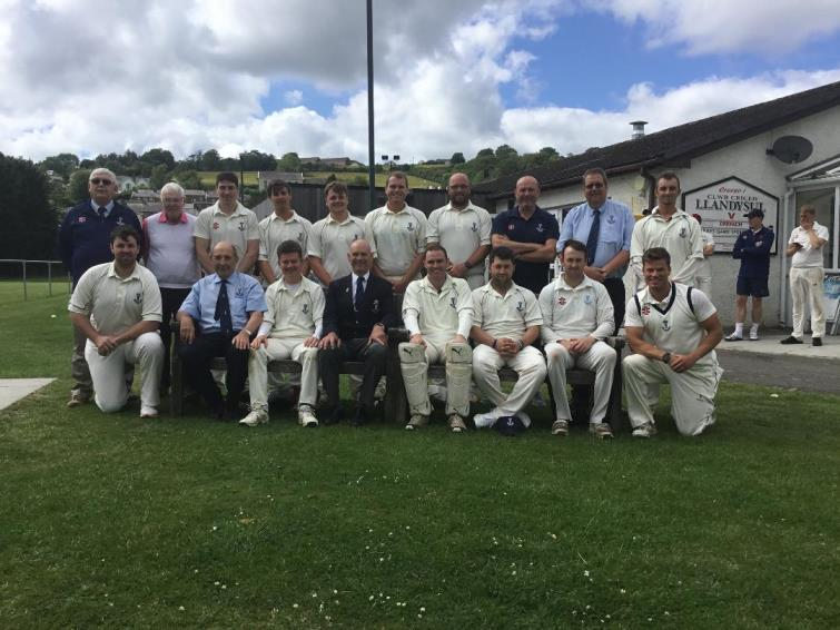 The Pembroke County Cricket team and officials