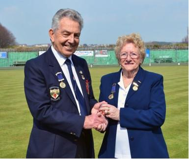 Club President, Mrs Diana Davies, offered up the Silver Jack to Brian Dowling