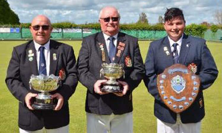 Hugh Williams (winner of the Sudbury Bowl), Richard Jones (winner of the Alfred Phillips Bowl) and James John-Davies(winner of the Texaco Shield)