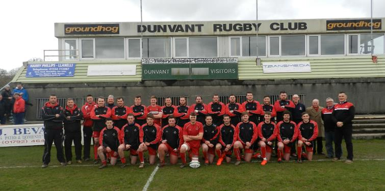 The Pembroke squad and officials before they bowed out of the WRU Plate competition