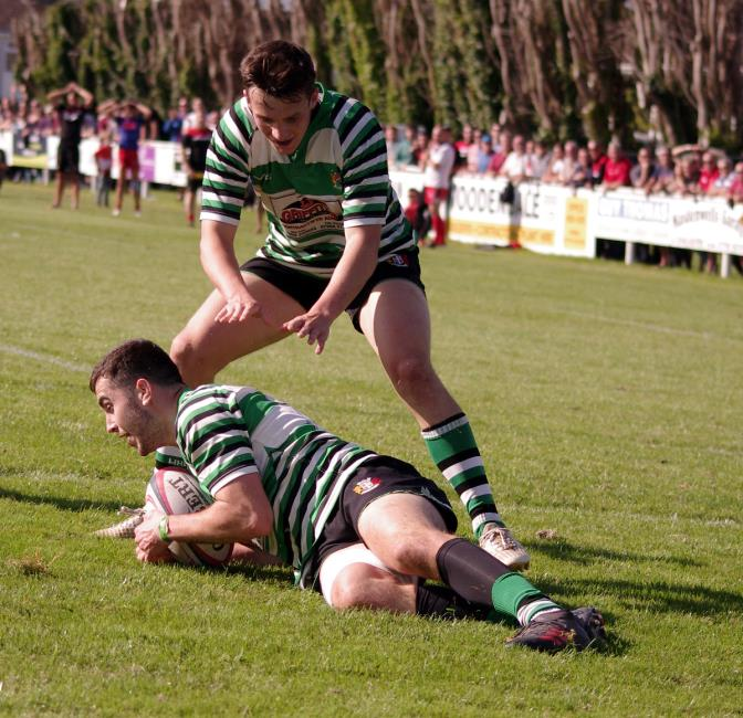 Gino Setaro grabs a try for Whitland