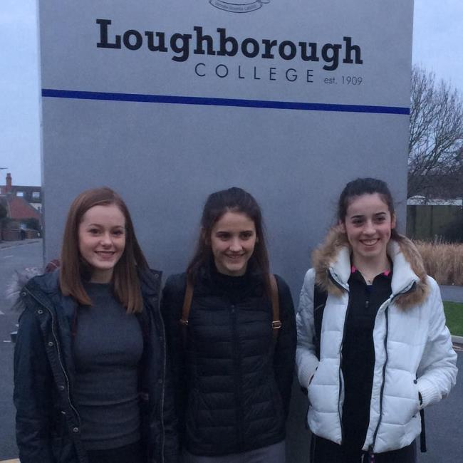 Pembs Harriers girls at Loughborough