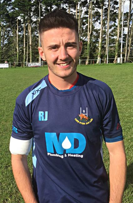 Rhodri Jones - three tries for St Clears classy centre