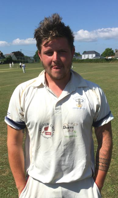 Rhys - Beard - took five crucial wickets for Llechryd