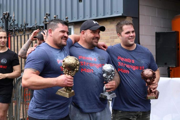 Top three in first ever Pembrokeshire Strongman