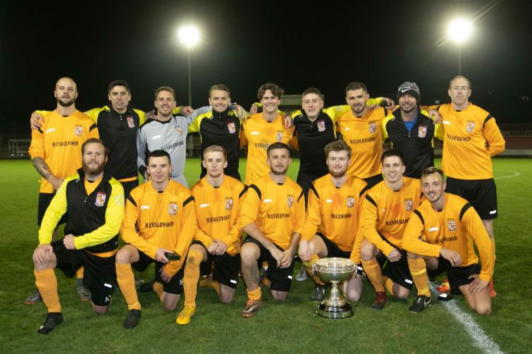 Pembrokeshire League celebrate winning the SB Williams Cup