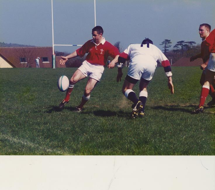Gareth Cooper chips ahead for Wales