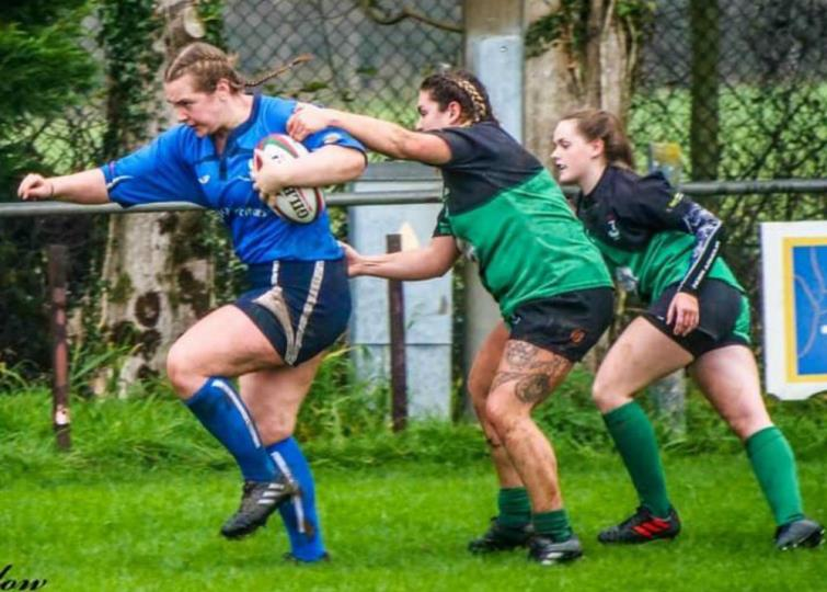 Sarah Lawrence in action for the Blues
