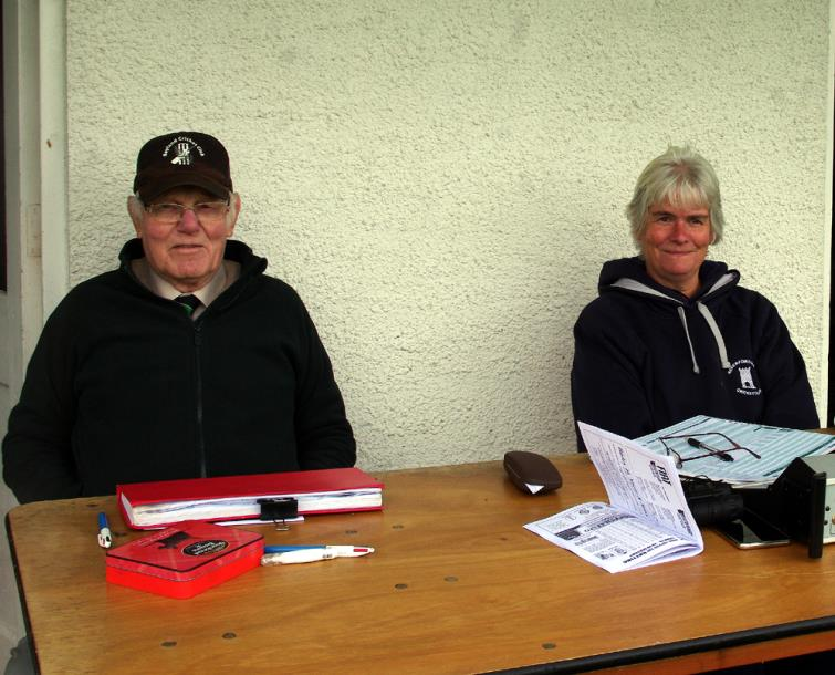 Scorers John Laugharne and Jayne Cole