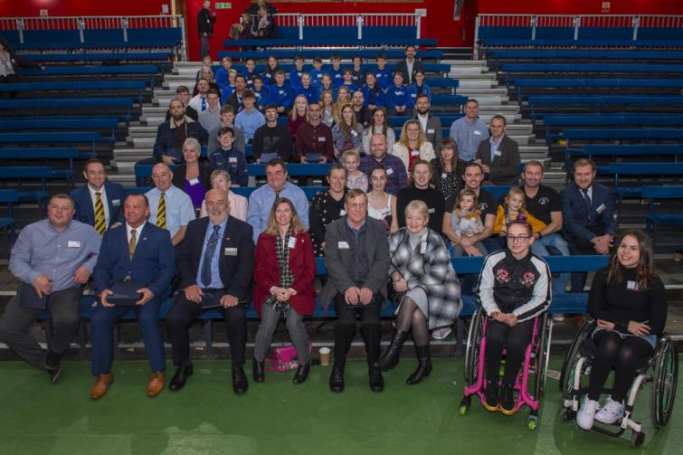 Some of last years winners after the awards ceremony at Folly Farm