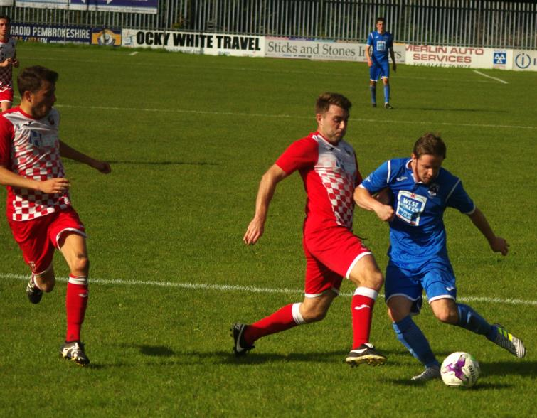 Steff Williams was on target with Haverfordwest Countys second goal